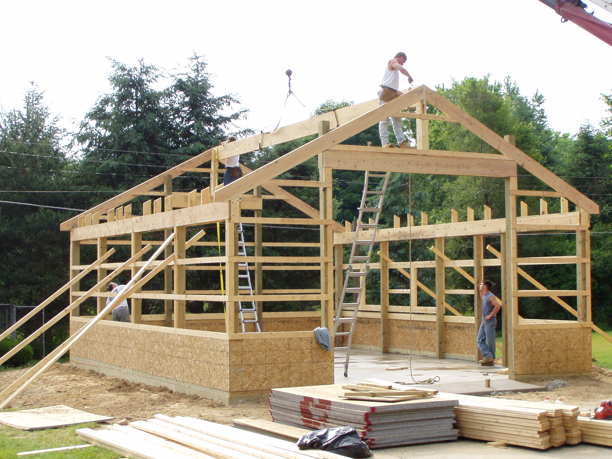 New construction all in one builders for Pole barn additions