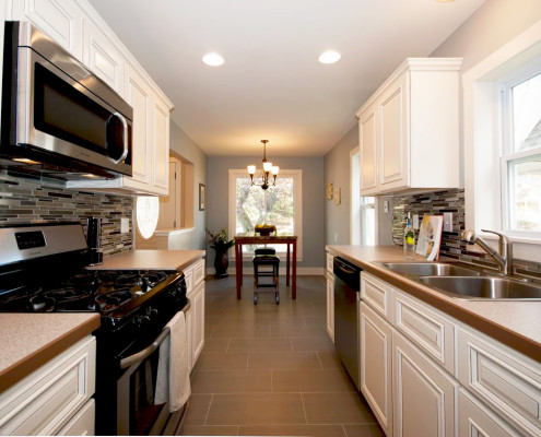 Kitchen remodeled All in One Builders