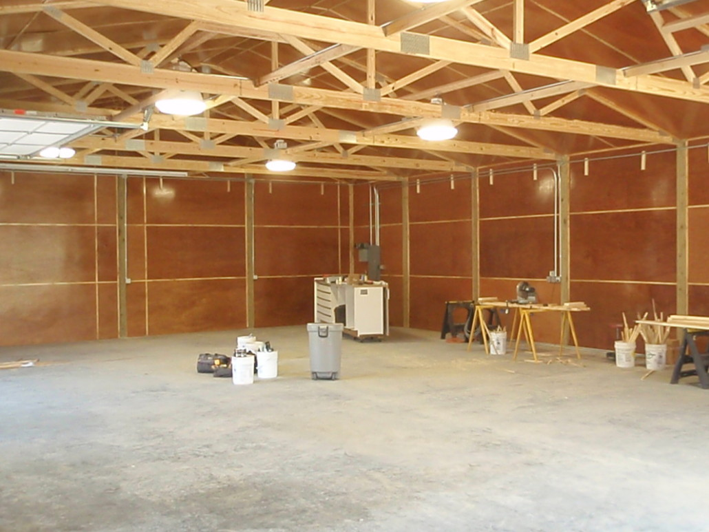 All in one builders west michigan pole barns garages for Pole barn interior ideas